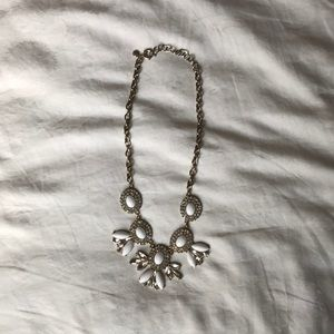 J.Crew White and Crystal Statement Necklace